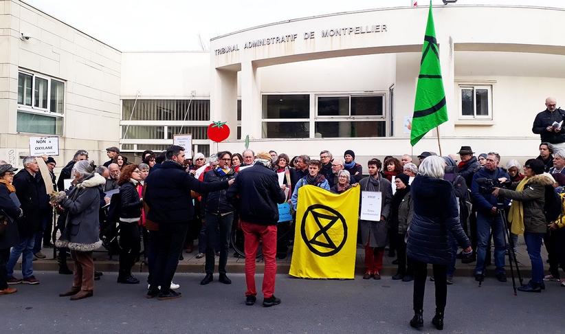 Rassemblement devant le tribunal administratif le 7 janvier 2020