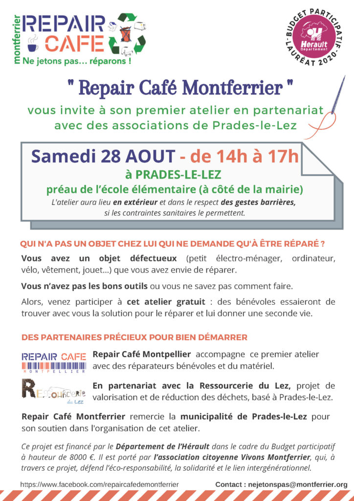 Atelier Repair Café du 28 août